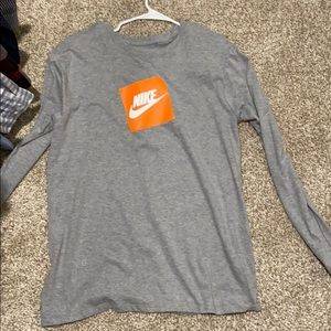 Large Men's Gray Nike Long sleeve T-Shirt